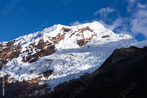 Fotografie, Obraz Glacial mountain view from Choquequirao trekking trail