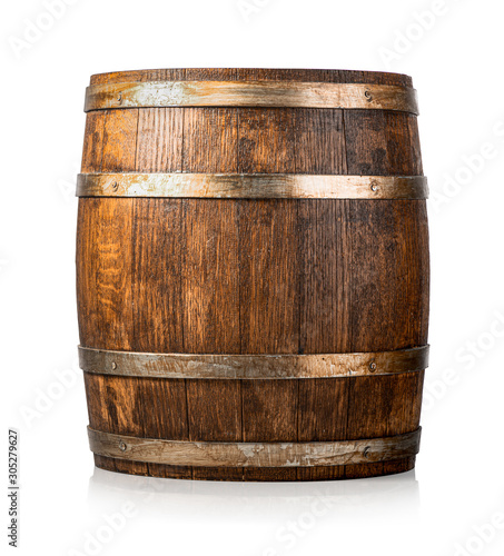 Fotografia Wooden cask isolated