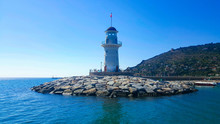 Lighthouse In The Port Of Alan...