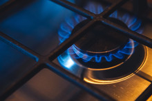 Close-up Of A Gas Burner On A ...