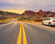 Car in Valley of Fire Nevada USA