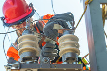 Working Electrician Working With Electrical Equipment
