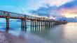 Pier Naples, Florida - old bridge Florida. Travel concept.