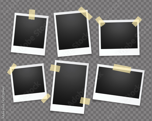 Realistic vector photo frame Wall mural