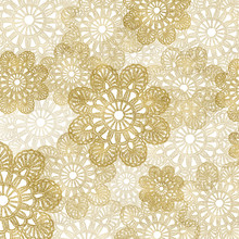 Vintage Lace Pattern In Gold Layers