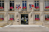 Fototapeta Londyn - Montoire sur le Loir; France - june 30 2019: town hall