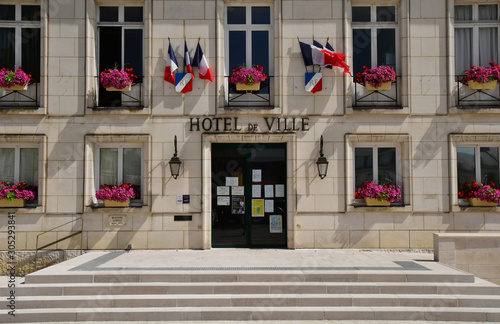 Montoire sur le Loir; France - june 30 2019: town hall