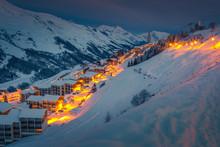 Fantastic Ski Resort At Dawn I...