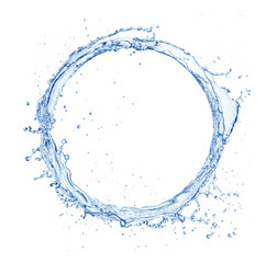water splash ring isolated on white background