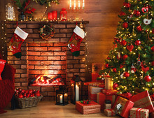 Interior Christmas. Magic Glow...