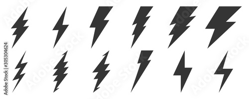 Obraz Lightning icons - vector. - fototapety do salonu