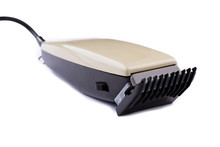 Electric Hair Clipper On White...