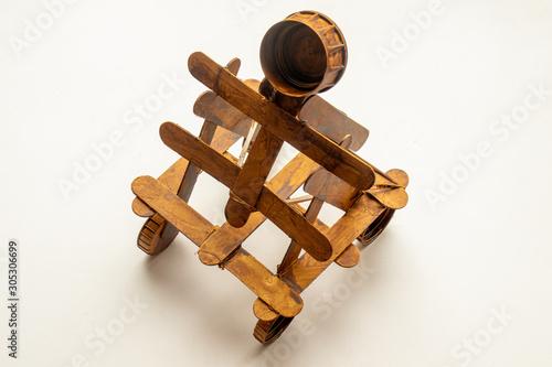 Stampa su Tela model of a Roman catapult