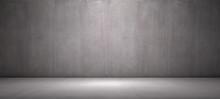Concrete Background Empty Room...
