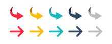 Arrow Set Icon. Colorful Arrow...