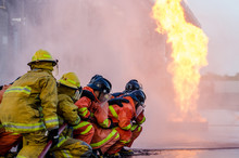 Firefighters Training, Training Of Firefighters, Firefighting In The Workplace