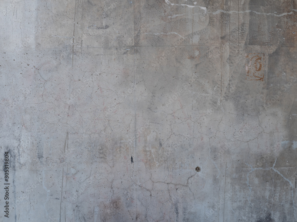 Fototapety, obrazy: Concrete dirty wall background texture gray pattern