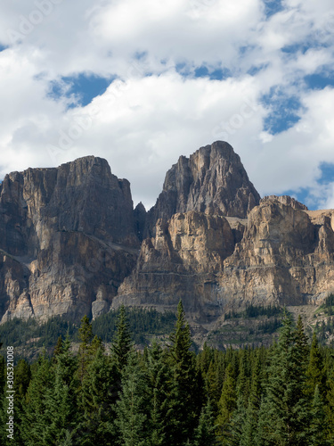 A majestic mountain peak in the Canadian Rocky Mountains