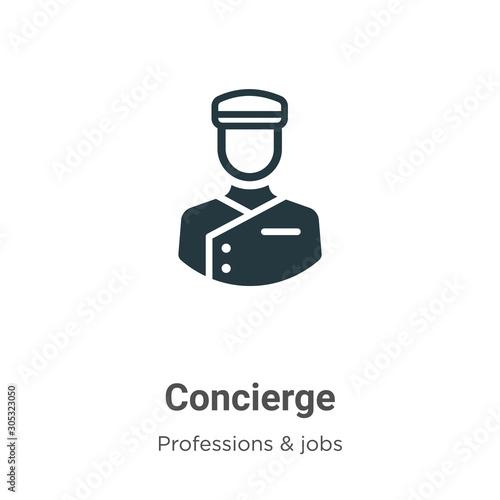 Obraz na plátně Concierge vector icon on white background