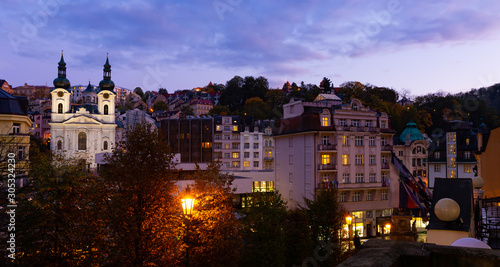 Valokuva Karlovy Vary at twilight