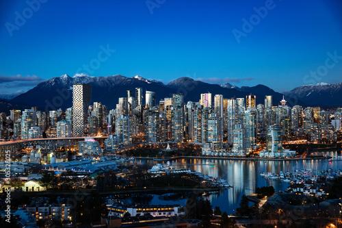 Naklejka premium Panoramę miasta Vancouver