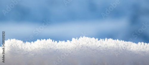 Obraz beautiful frozen snowflakes Christmas background - fototapety do salonu