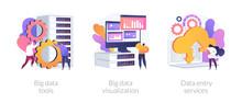 Big Data Metaphors Icons Set. ...