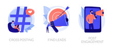 Modern Promotion Methods Icons...