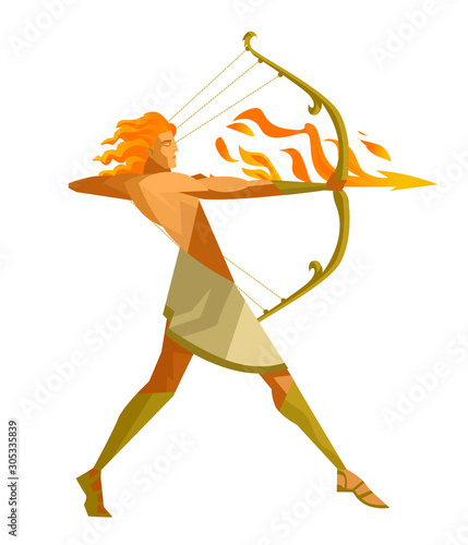 Photo apollo archer god of sun
