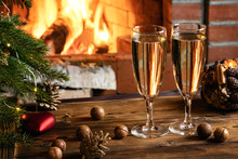 Christmas Composition - Two Gl...
