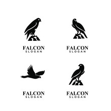 Set Of Falcon Black Logo Icon ...
