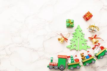 テーブルの上のクリスマス