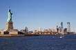 Freiheitsstatue & Jersey City Skyline