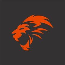Lion Head Tribal Logo