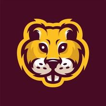 Gopher Mascot Head Logo