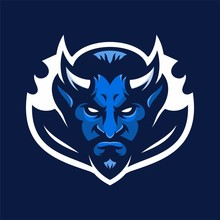 Devil Mascot Head Logo