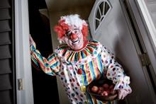 Awkward Man Dressed As A Clown...