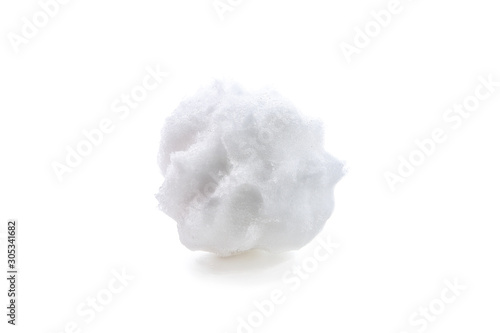 Fototapeta roughly formed snowball with marks from fingers