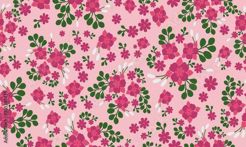 Fotografie, Tablou Antique dark pink flower, isolated on bright pink background.