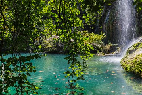 Vászonkép  The Kursunlu Waterfall Nature Park in Antalya, Turkey