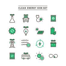CLEAN ENERGY ICON SET