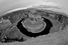 Fisheye Panorama Of Horseshoe Bend, Colorado River, Page, Arizona