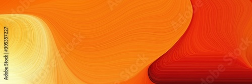 Fotografie, Tablou abstract waves design with dark orange, khaki and strong red color