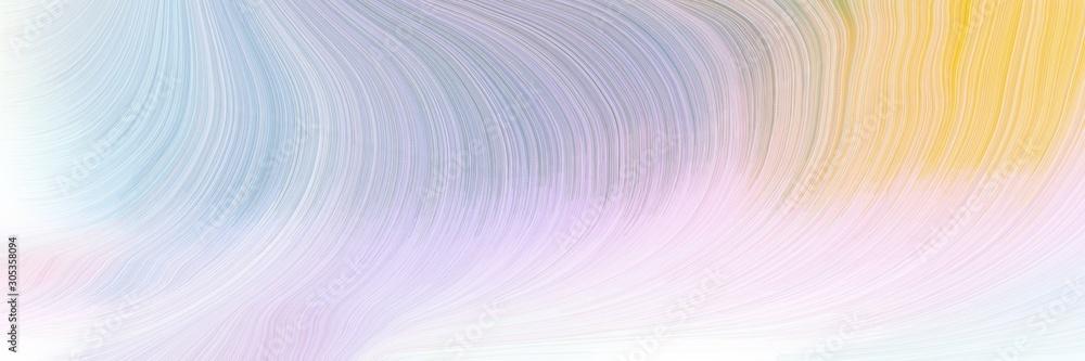 modern soft swirl waves background design with lavender, pastel orange and dark gray color