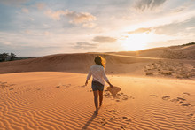 Young Woman Traveler Looking S...