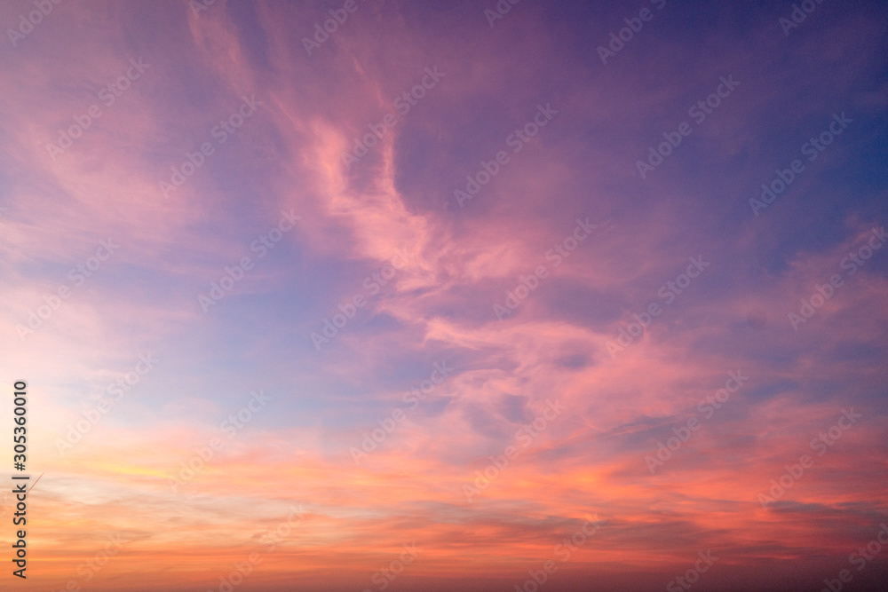 Fototapety, obrazy: Gradient sky texture after sunset