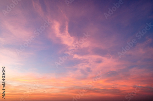 Foto  Gradient sky texture after sunset