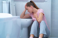 Young Woman Suffers From Nause...