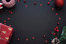 Black Festive Background With ...