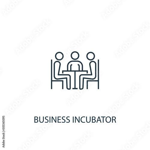 Photo Business incubator line icon. Simple element illustration